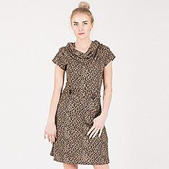 Tenki - Brown leopard print tunic dress