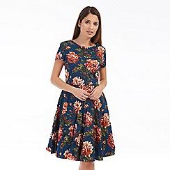 Solo - Blue carla print dress