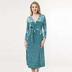 Amalie & Amber - Dark turquoise velvet midi dress