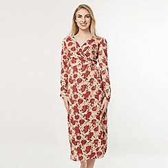 Amalie & Amber - Cream floral wrap dress