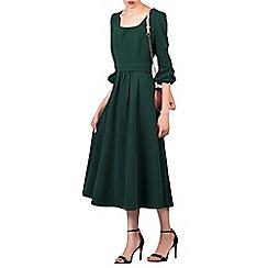 Jolie Moi - Dark green bell sleeve flare midi dress