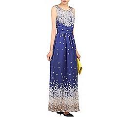 Jolie Moi - Royal printed chiffon maxi dress