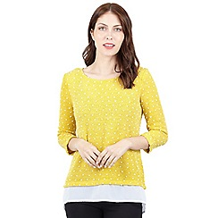 Izabel London - Yellow double layered top