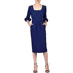 Jolie Moi - Blue bell sleeve midi pencil dress