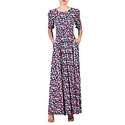 Jolie Moi - Pink print half sleeve maxi dress
