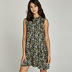 Apricot - Multicoloured retro floral print tunic dress