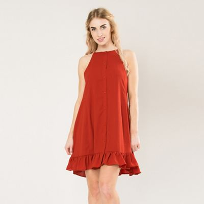 Amalie & Amber   Wine Peplum Smock Dress by Amalie & Amber