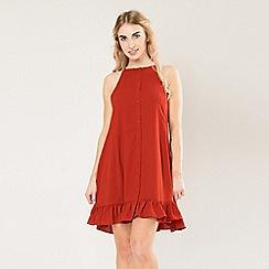 Amalie & Amber - Wine peplum smock dress