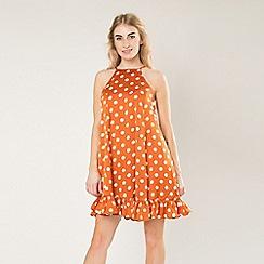 Amalie & Amber - Orange peplum smock dress