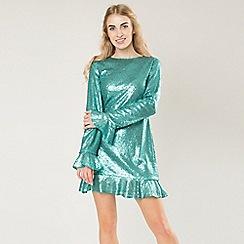 Amalie & Amber - Aqua stunning sequin dress