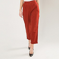 Amalie & Amber - Orange cropped tailored trousers
