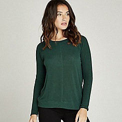 Apricot - Green soft seam detail sweatshirt