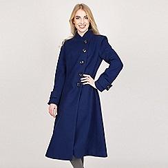 Jolie Moi - Royal asymmetric buttoned fit & flare coat