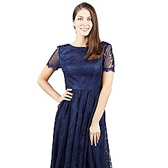 Izabel London - Navy short sleeve laced dress