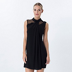 Explosion London - Black high neck straight mini dress