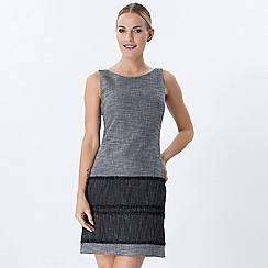 Explosion London - Grey round neck sleeveless tweed dress