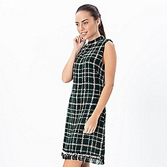Explosion London - Green tweed checkered dress