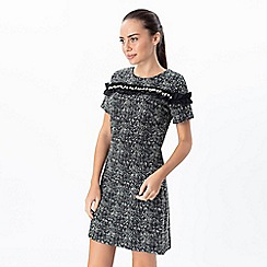 Explosion London - Grey tweed short sleeves dress