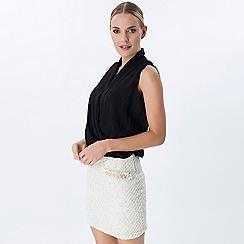 Explosion London - Multicoloured wrap top tweeded skirt dress