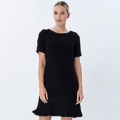 Explosion London - Black round neck short sleeves dress