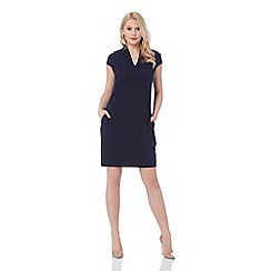 Roman Originals - Navy v neck cocoon dress