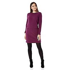 Roman Originals - Purple ribbed shift dress