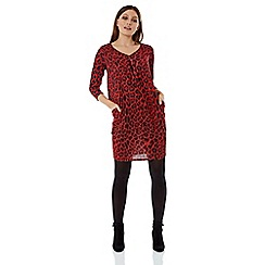 Roman Originals - Red red animal print slouch dress