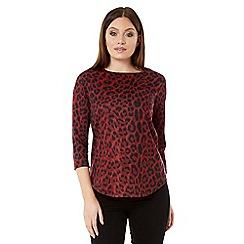 Roman Originals - Red leopard print top