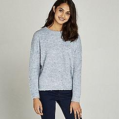 Apricot - Blue fluffy boucle oversized jumper