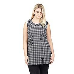 Izabel London Curve - Black check shift dress