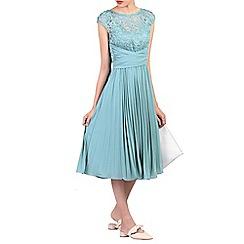 Jolie Moi - Light blue lace bodice pleated prom dress
