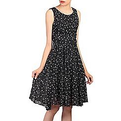 Jolie Moi - Black printed fit & flare dress
