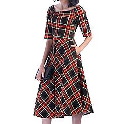 Jolie Moi - Green half sleeve swing dress