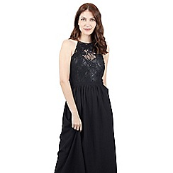 Izabel London - Black lace top maxi dress
