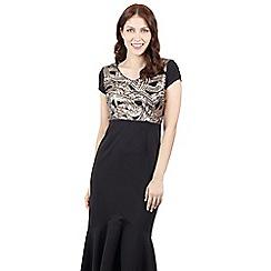 Izabel London - Black contrast maxi dress