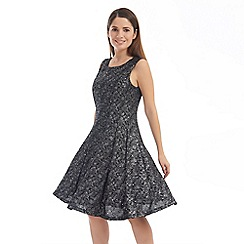 Solo - Silver priya fit and flare dress
