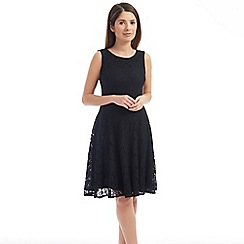 Solo - Black sleeveless lace dress
