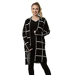 Anna Field - Black Jacquard Checked Long Cardigan 52f46e473e5a