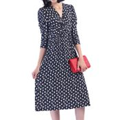 1c3b7a65b7 Vero Moda Green Dot Print  Sarah  Knee Length Wrap Dress