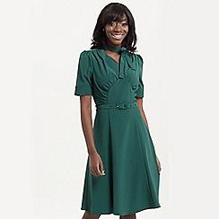 Voodoo Vixen - Green audrey fit & flare tea dress