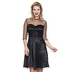 Voodoo Vixen - Black olivia overlay dress