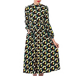 Jolie Moi - Multicoloured printed turtleneck midi dress