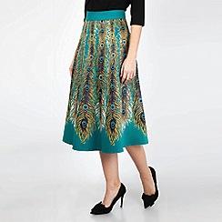 Voodoo Vixen - Green Nicole Peacock Feather Skirt