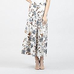 Izabel London - White Printed Maxi Skirt
