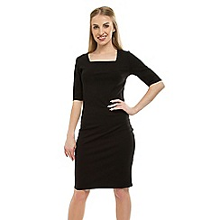 Anna Field - Black Jersey Bodycon Punto Dress
