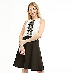 Anna Field - Black Lace Top Flared Dress