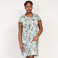 Izabel London Curve - Green Floral Printed Tunic Dress