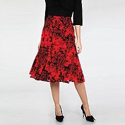 Voodoo Vixen - Red Chloe Rose Skirt