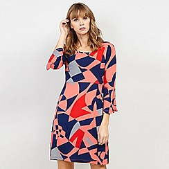 Izabel London - Multi Printed Ruffle Sleeve Dress