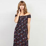 91d26a5af2b Izabel London - Multi Printed Bardot Maxi Dress